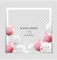 party holiday photo frame template with balloons vector image vector image