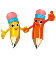 Pencil Characters vector image vector image