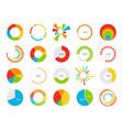 pie charts graphic segmentation information vector image