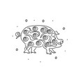 pig hand drawing coloring page modern doodle vector image vector image