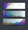 polygon banner set vector image