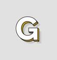 pop art logo letter g vector image