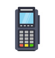 pos terminal icon in a flat style vector image