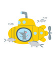 rat in submarine vector image vector image