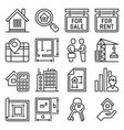 real estate and home rent icons set on white vector image vector image