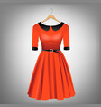 red dress on hanger vector image vector image
