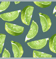 seamless pattern in green and marine colors with vector image vector image