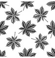 seamless pattern with black and white horse vector image vector image