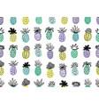 seamless pineapple pattern handdrawn pinapple vector image