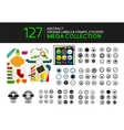 Set of vintage stamps lables tags icons vector image