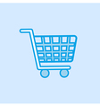 Shopping Trolley Icon Simple Blue vector image vector image