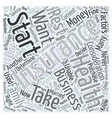 Should You Start Your Own Business Word Cloud vector image vector image