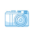 silhouette cute digital camera to take a picture vector image
