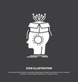 sousveillance artificial brain digital head icon vector image
