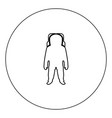 spaceman icon black color in circle isolated vector image