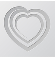 Spiral heart cutted from paper vector image vector image