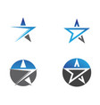 star logo and symbols icons template app vector image vector image