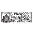 state banner louisiana pelican state vector image vector image