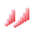 statistics graph chat isometric object vector image vector image