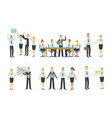 sucessful business people characters working in vector image vector image