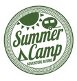 summer camp sign or stamp vector image