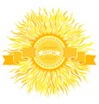 Sun design vector image