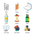 Trash categories icons set vector image vector image
