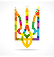 ukraine emblem colored bubbles vector image