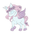 unicorn fairy tale romantic cartoon animal vector image