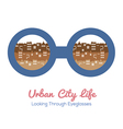 Urban City Life vector image