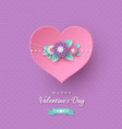 valentines day holiday design vector image vector image