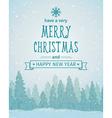 vintage winter forest landscape merry christmas vector image