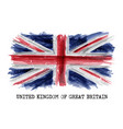 watercolor painting flag of united kingdom vector image