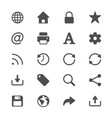 web glyph icons vector image vector image