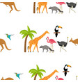 zoo seamless pattern vector image
