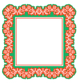floral frame abstract vector image