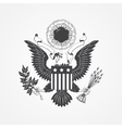Eagle with shield Typographic labels stickers vector image