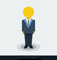 icons of businessman or manager vector image