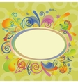 Abstract holiday background with frame vector image vector image
