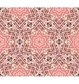 Abstract star mosaic pink pattern vector image