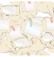 Blank white papers seamless background vector image