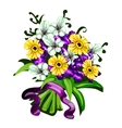 Bright bouquet of flowers on a white background vector image vector image