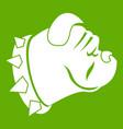 bulldog dog icon green vector image vector image