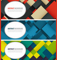business banner with colorful squares business vector image vector image