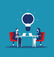business team with brainstorming concept business vector image