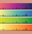 cambridge multiple color gradient skyline banner vector image vector image