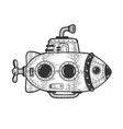 cartoon submarine sketch vector image vector image