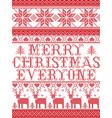 christmas pattern merry christmas everyone carol vector image vector image
