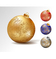 colorful christmas balls set isolated vector image vector image