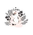 cute cat print vector image